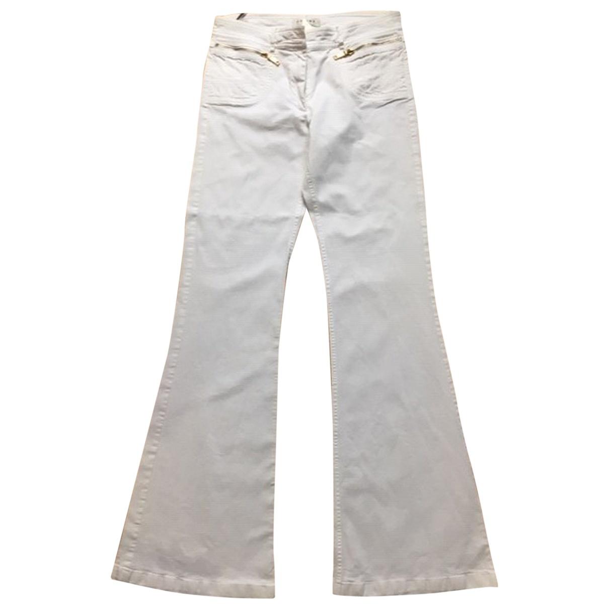 Celine - Pantalon   pour femme en coton - blanc
