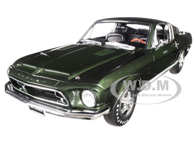 1968 Ford Mustang Shelby GT350H Dark Green Limited Edition to 486 pieces Worldwide 1/18 Diecast Model Car by Acme