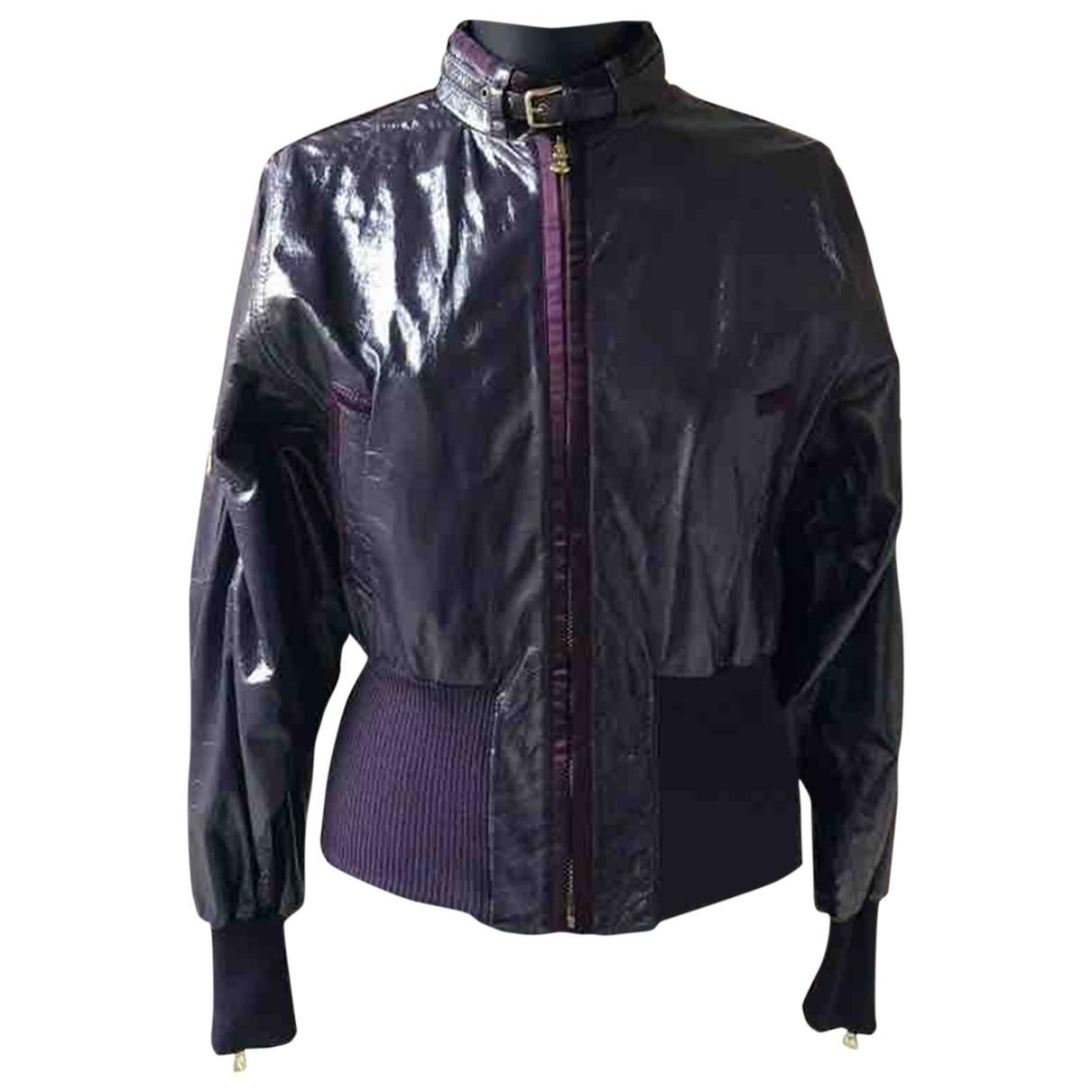 Dolce & Gabbana \N Purple Leather jacket for Women 40 IT