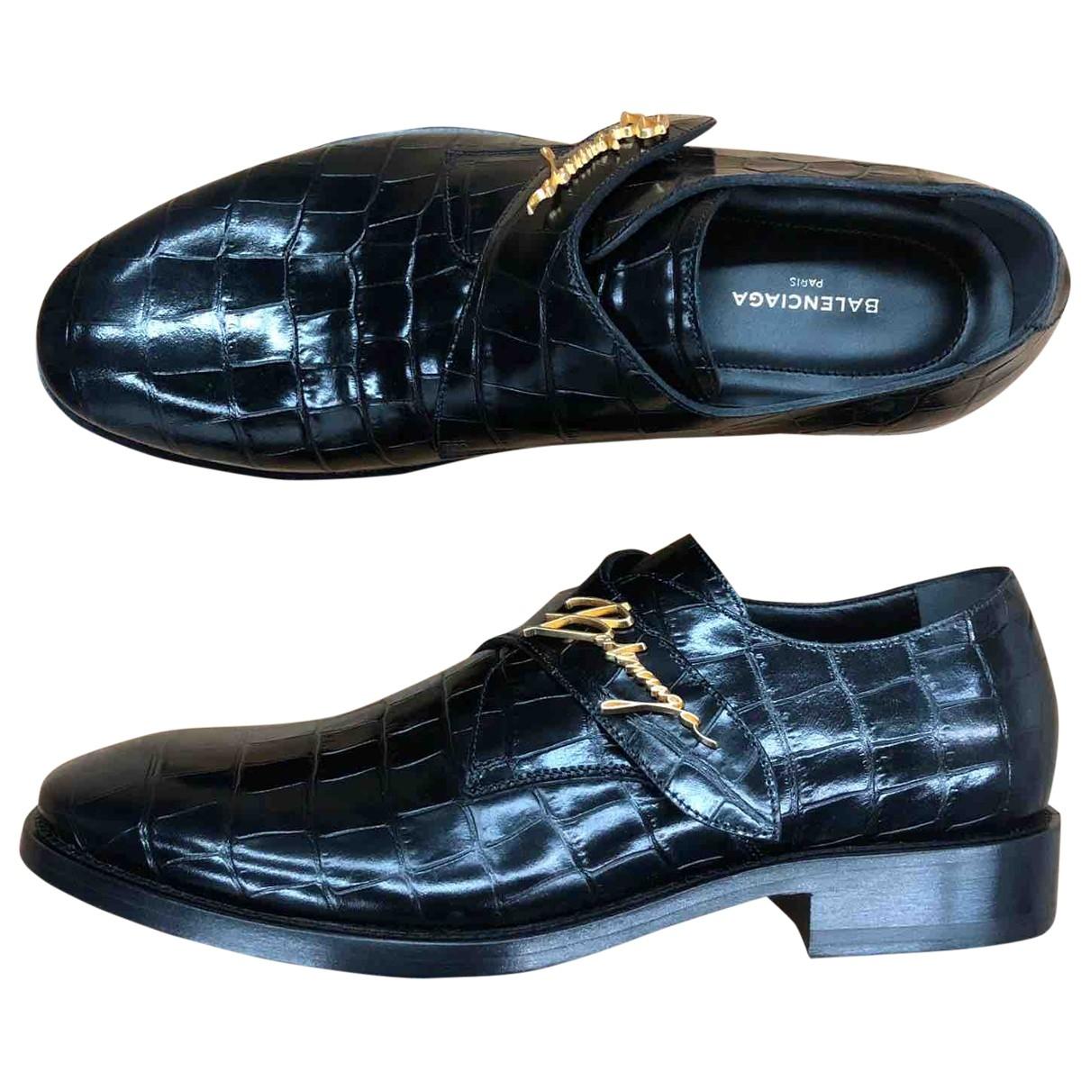 Balenciaga \N Mokassins in  Schwarz Leder