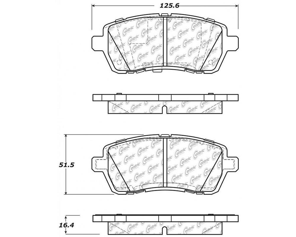 StopTech 309.1454 Sport Brake Pads with Shims/Hardware Ford Fiesta Front 2011-2013
