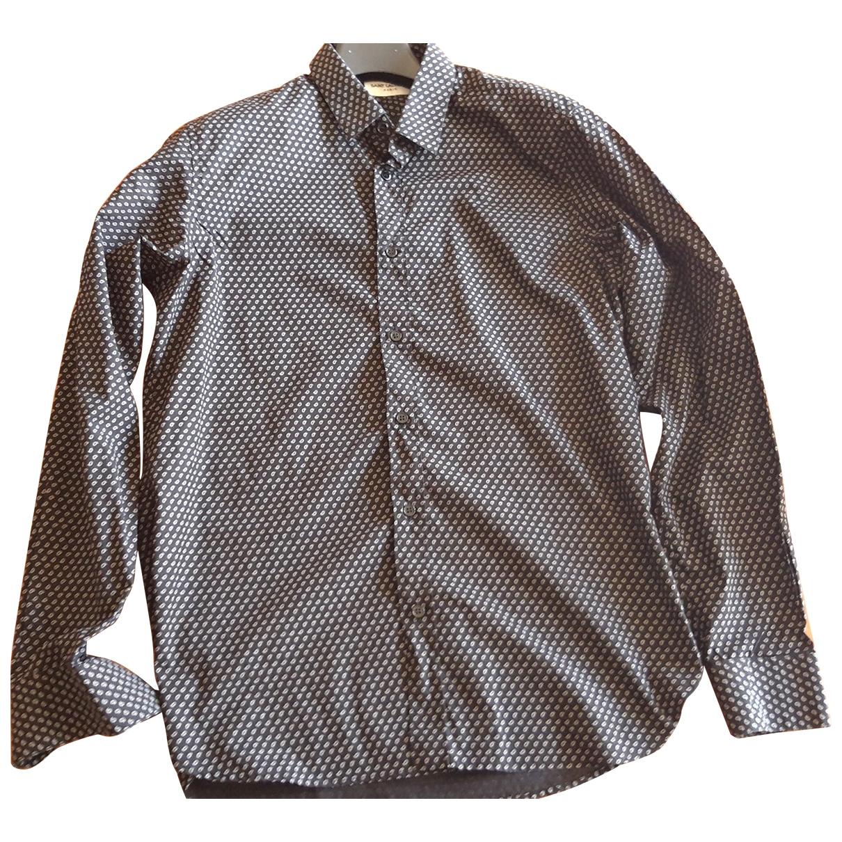 Saint Laurent \N Hemden in  Schwarz Baumwolle