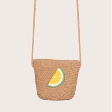 Toddler Girls Lemon Decor Crossbody Bag