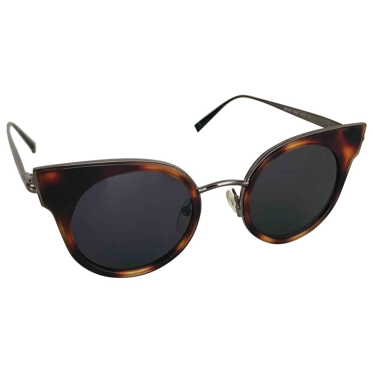 Max Mara \N Brown Metal Sunglasses for Women \N