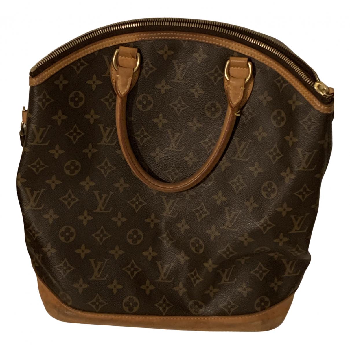 Louis Vuitton - Sac a main Lockit Vertical pour femme en toile - marron