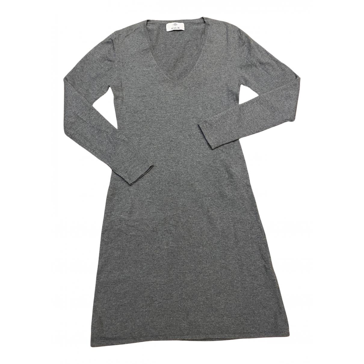 Allude - Robe   pour femme en cachemire - gris