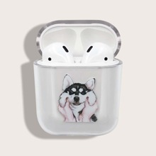 1pc Dog Pattern AirPods Case