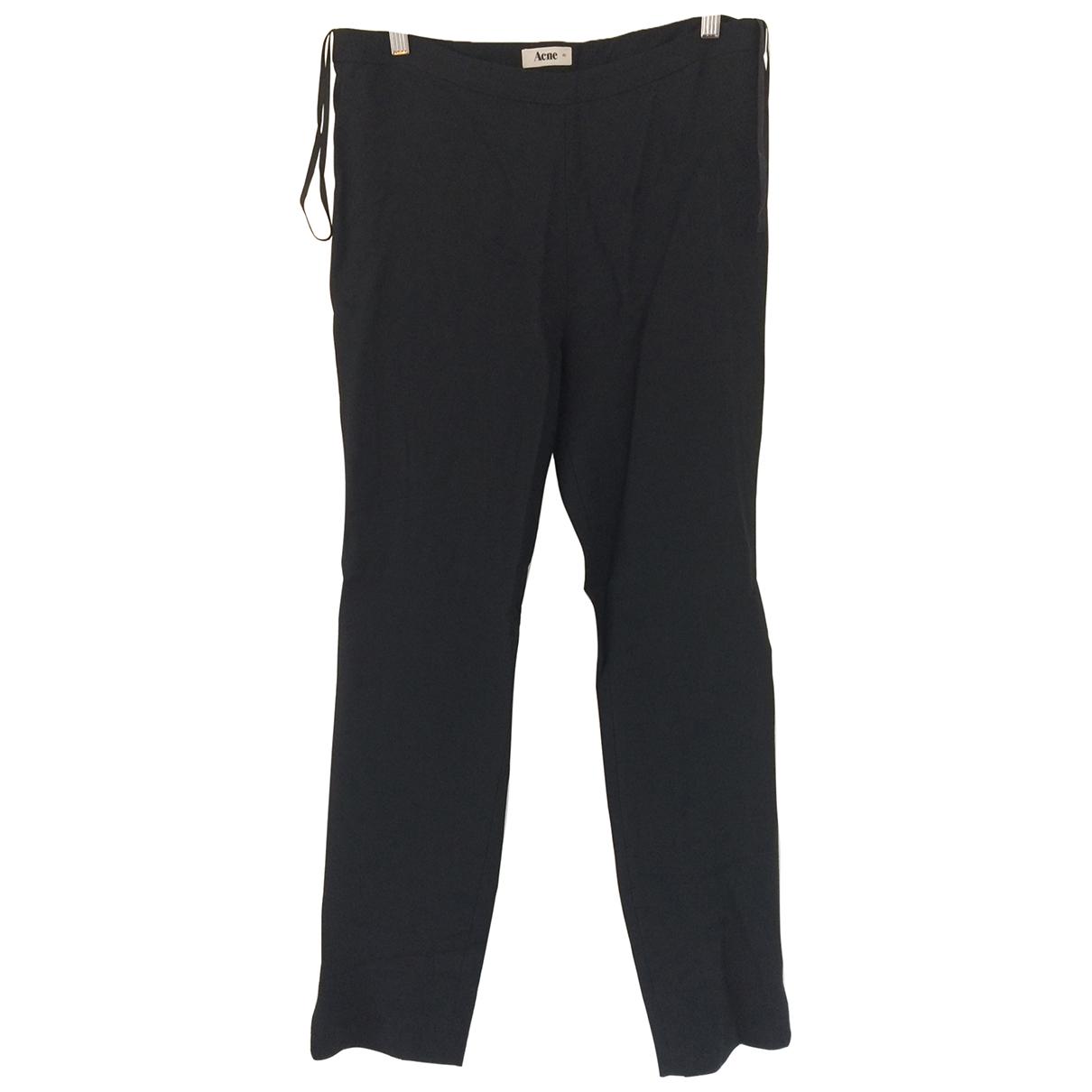 Acne Studios \N Black Trousers for Women 40 FR