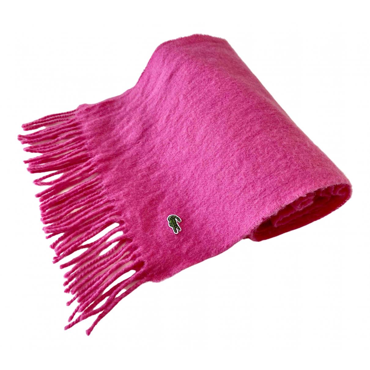 Lacoste - Foulard   pour femme en laine - rose
