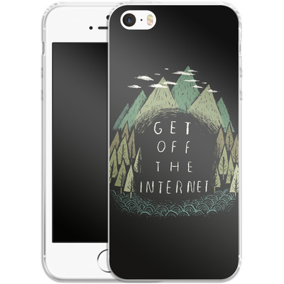 Apple iPhone SE Silikon Handyhuelle - Get Off The Internet von Louis Ros