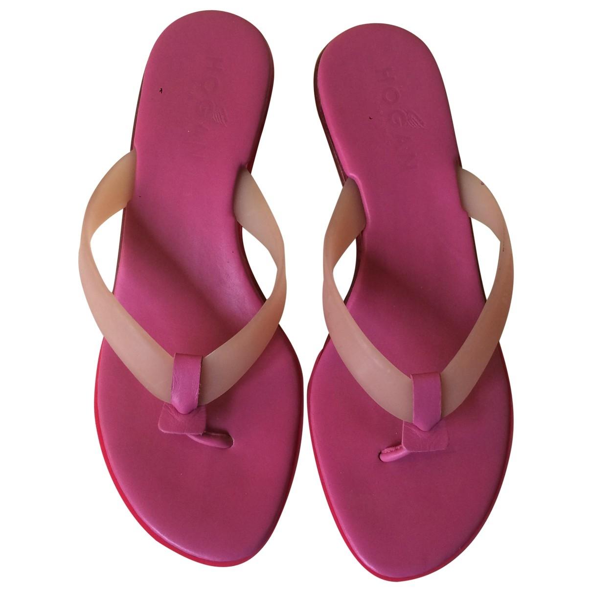 Hogan - Sandales   pour femme - rose