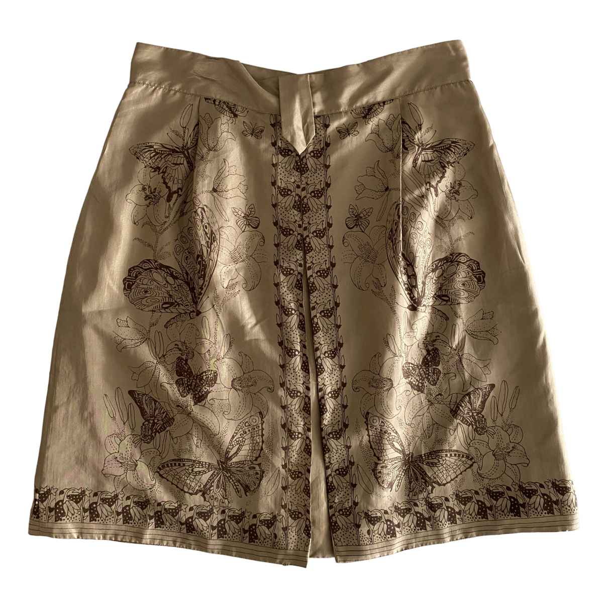 Philosophy Di Alberta Ferretti N Brown Silk skirt for Women 44 IT