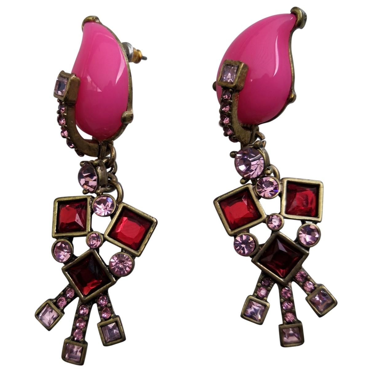 Oscar De La Renta \N OhrRing in  Rosa Metall