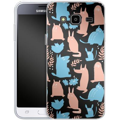 Samsung Galaxy J3 (2016) Silikon Handyhuelle - Nighttime von Jenna Kunnas