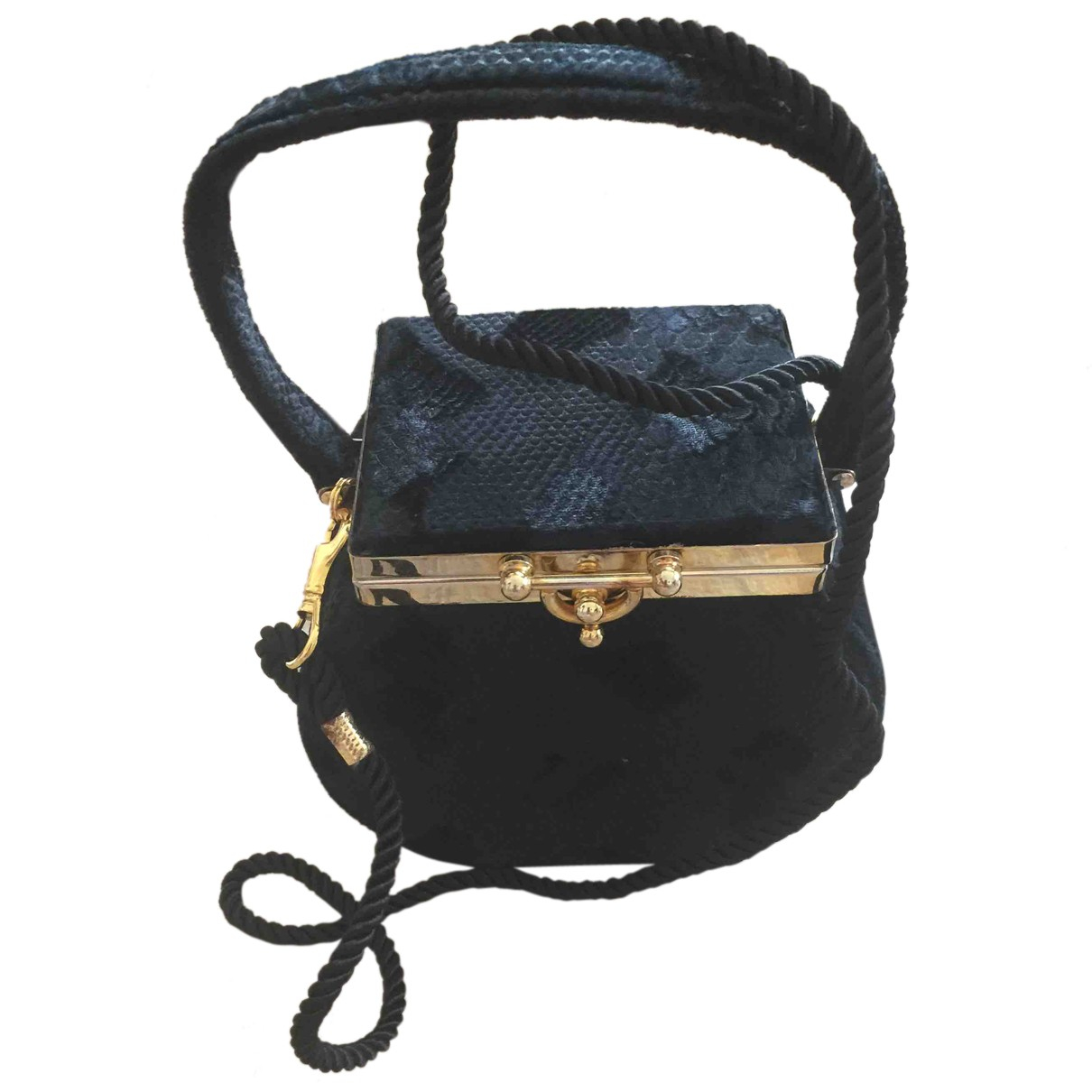 - Pochette   pour femme en velours - noir