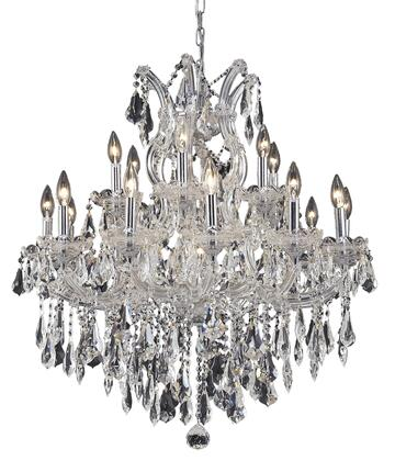 2801D30C/RC 2801 Maria Theresa Collection Hanging Fixture D30in H28in Lt: 18+1 Chrome Finish (Royal Cut