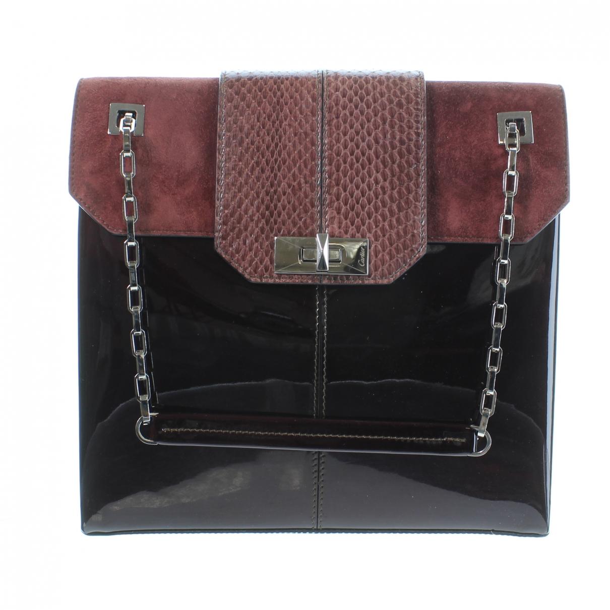 Cartier \N Burgundy Patent leather handbag for Women \N