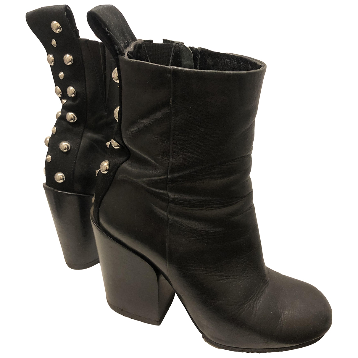 Mcq \N Black Leather Boots for Women 38 EU