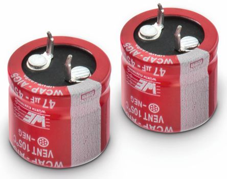 Wurth Elektronik 220μF Electrolytic Capacitor 450V dc, Through Hole - 861021485024 (2)
