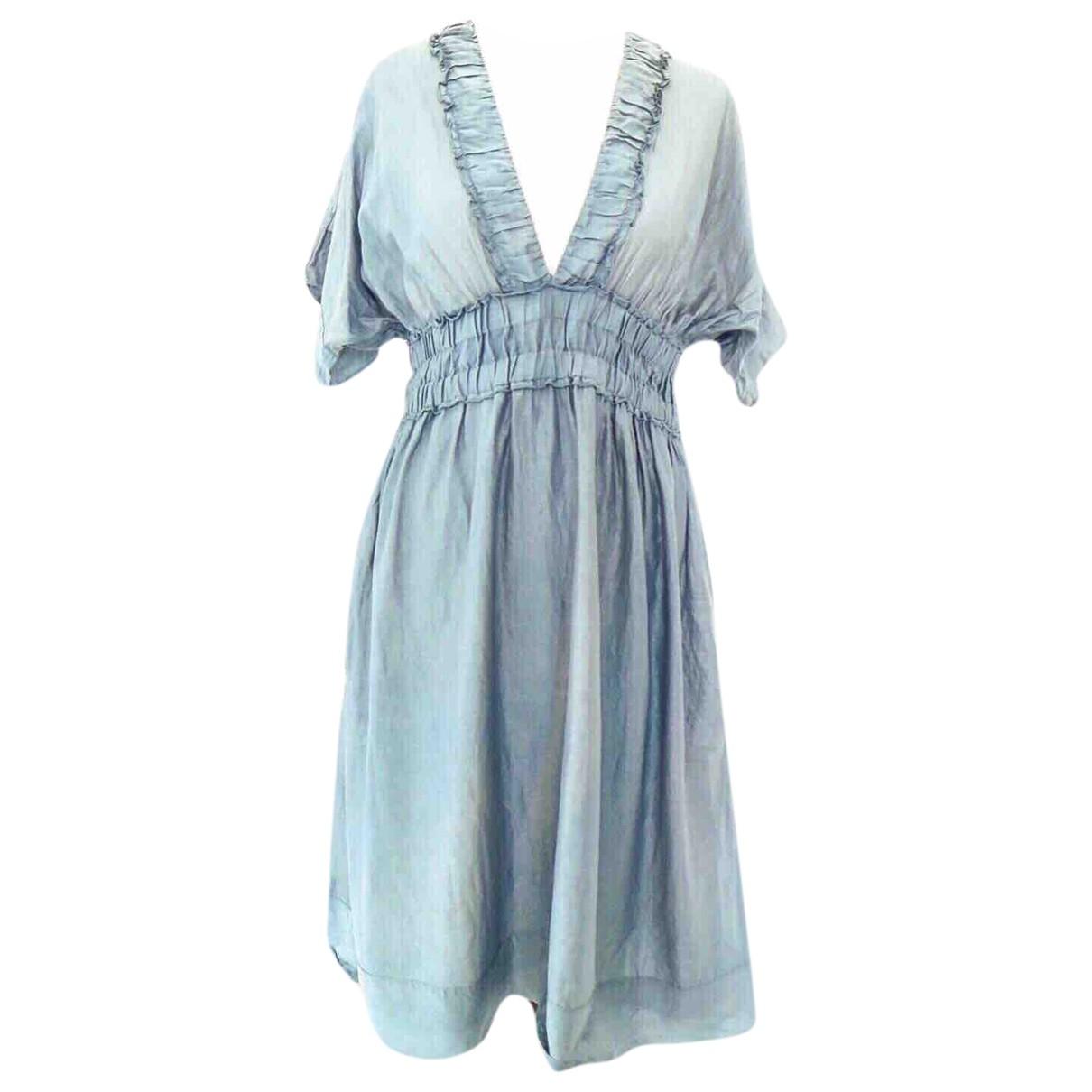 Bruuns Bazaar \N Kleid in  Grau Seide