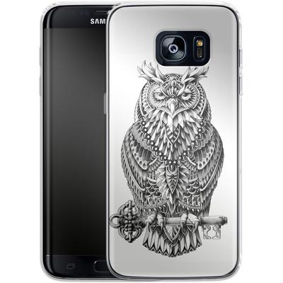 Samsung Galaxy S7 Edge Silikon Handyhuelle - Great Horned Owl von BIOWORKZ