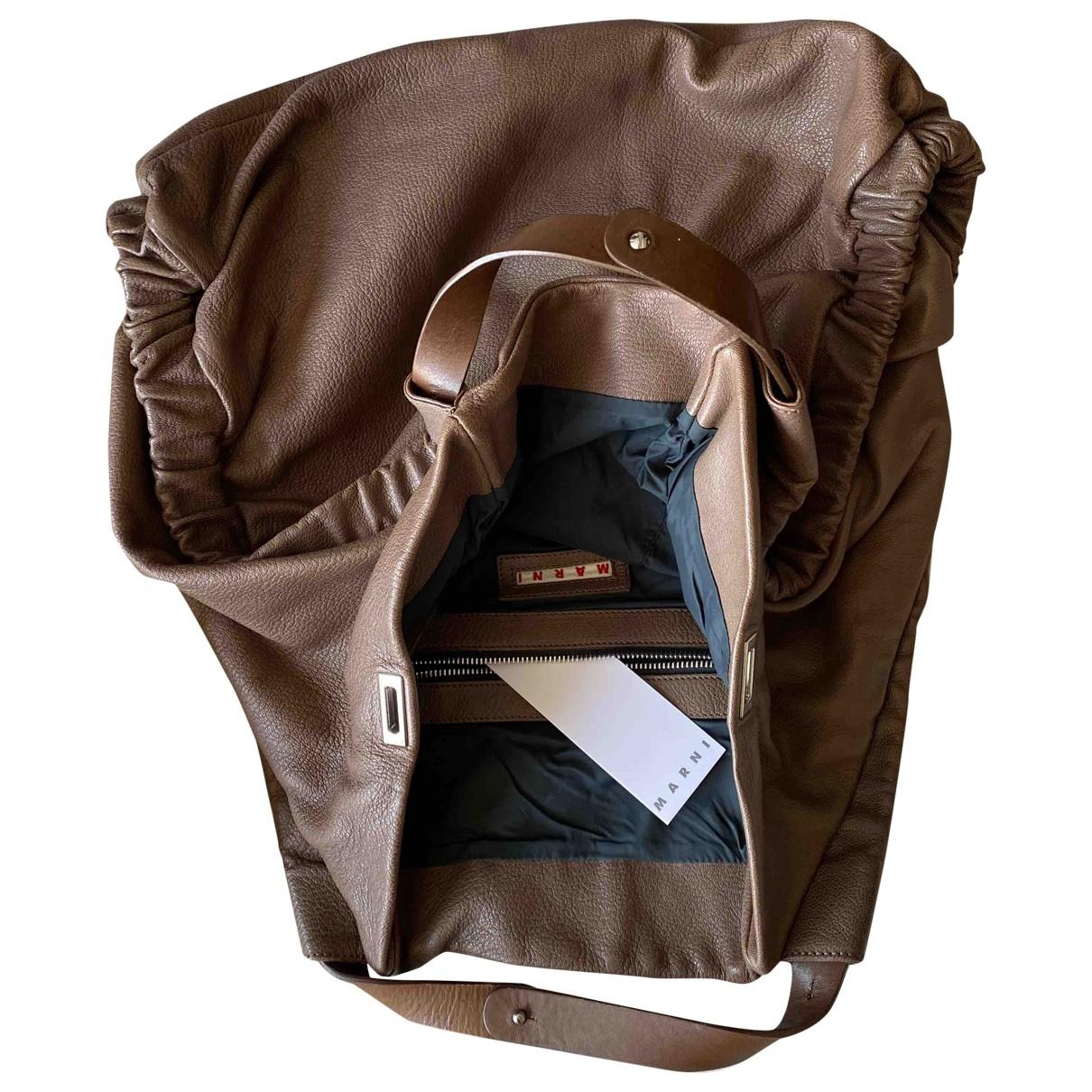 Marni \N Handtasche in  Kamel Leder