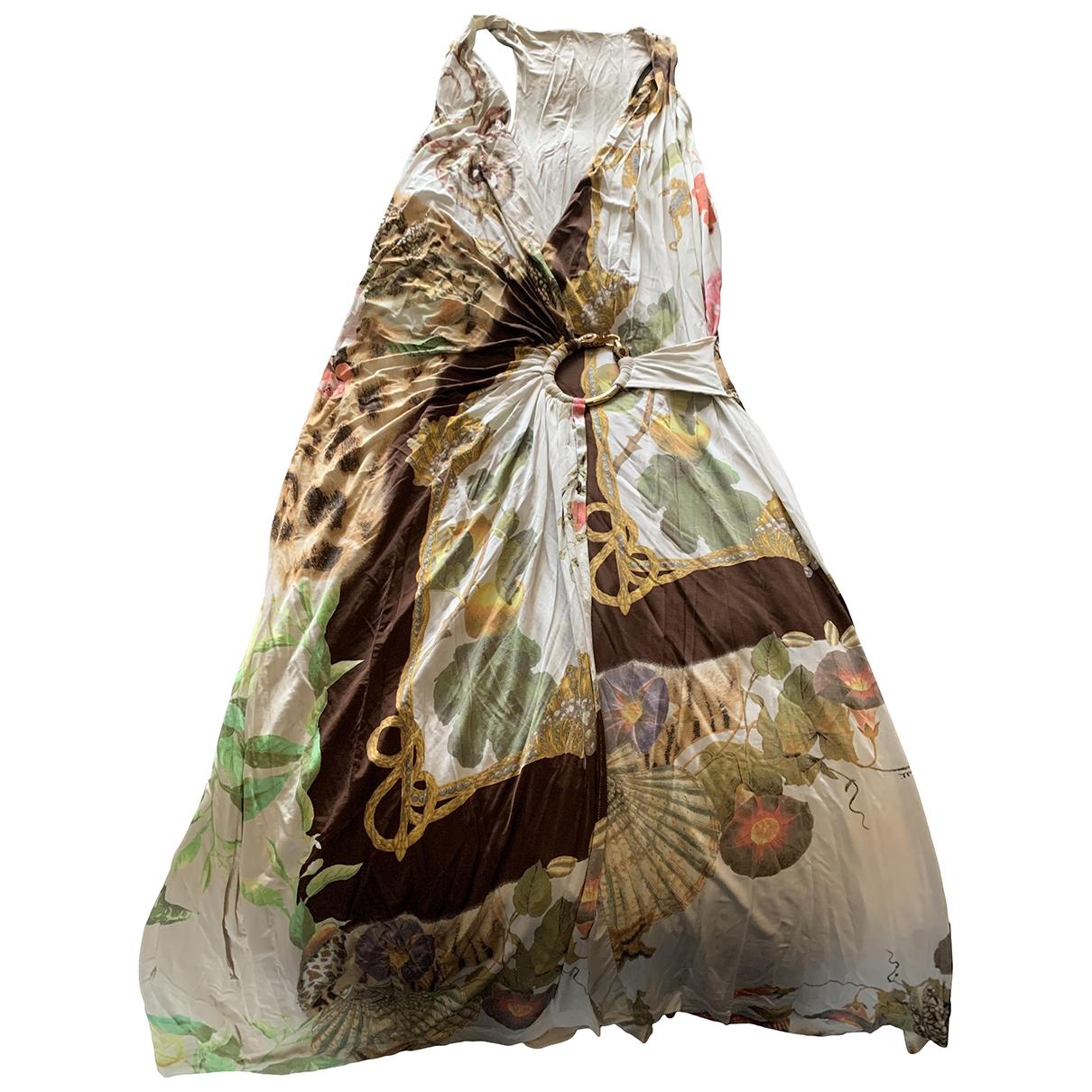 Roberto Cavalli - Robe   pour femme en soie - multicolore