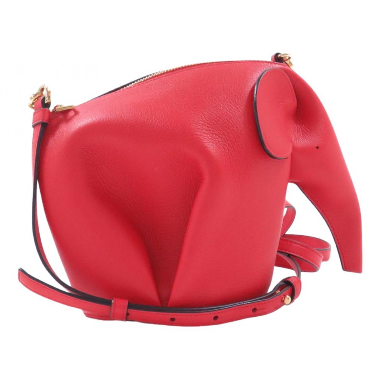 Loewe Animals Red Leather handbag for Women \N