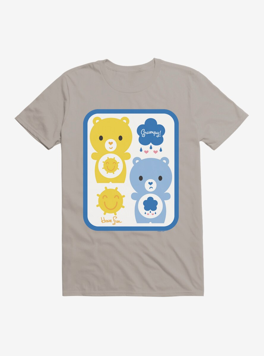 Care Bears Cartoon Funshine Grumpy Icons T-Shirt