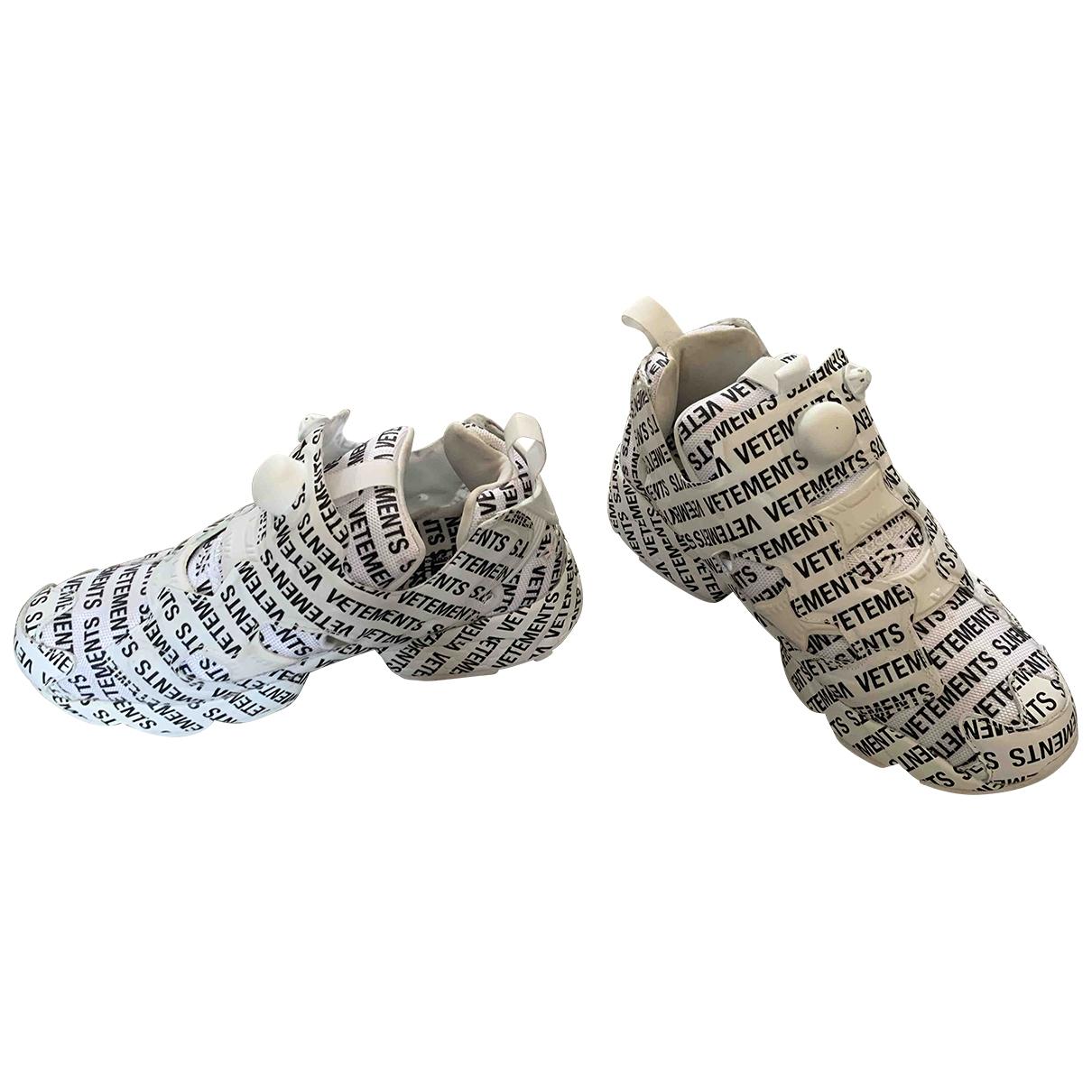 Reebok X Vetements - Baskets   pour femme en toile - blanc