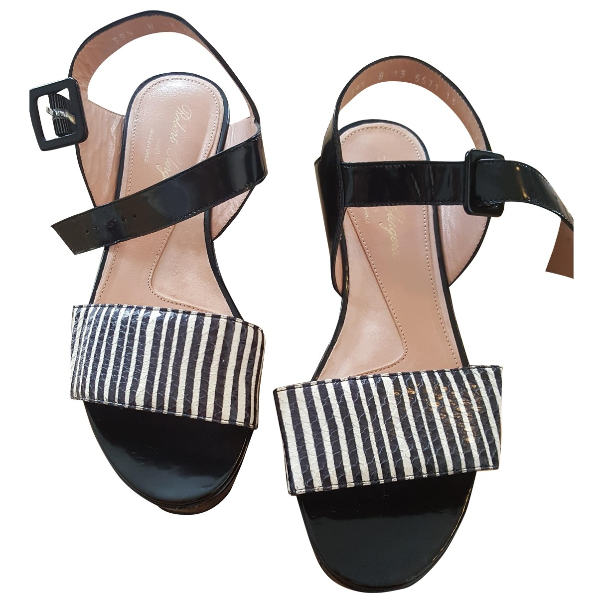 Robert Clergerie \N Patent leather Sandals for Women 39.5 EU