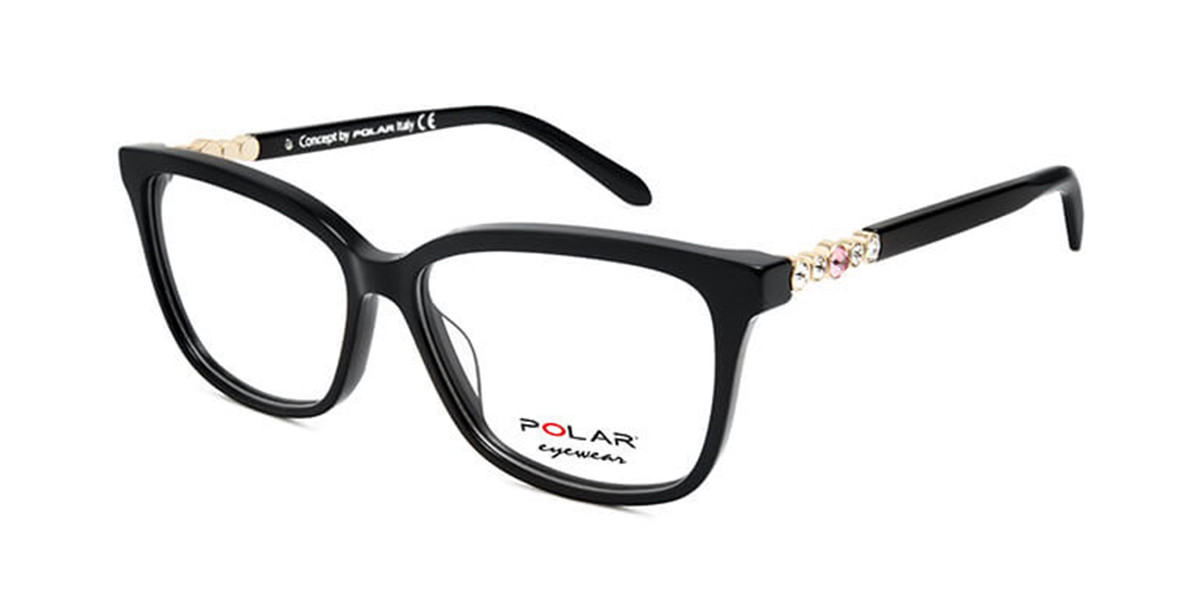 Polar PL Crystal 3 77 Men's Glasses Black Size 55 - Free Lenses - HSA/FSA Insurance - Blue Light Block Available