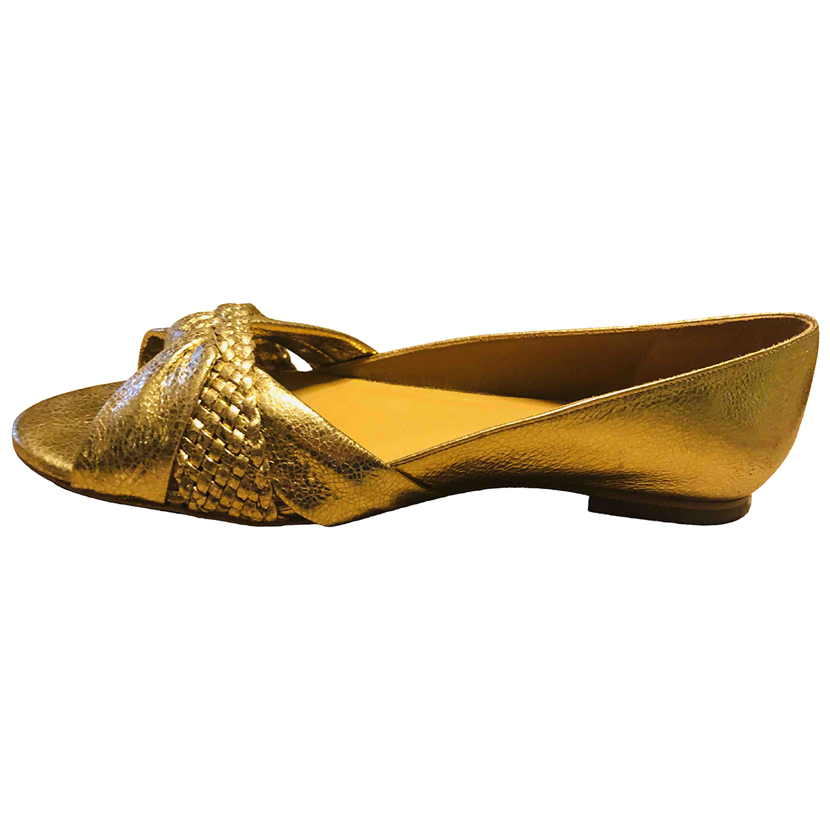 Sézane Spring Summer 2020 Gold Leather Sandals for Women 39 EU