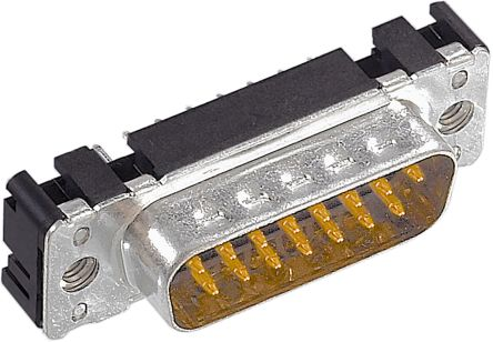HARTING D-sub Series, 9 Way D-sub Connector Plug, 2.74 mm, 2.84 mm Pitch, with 4-40 UNC Nut (100)