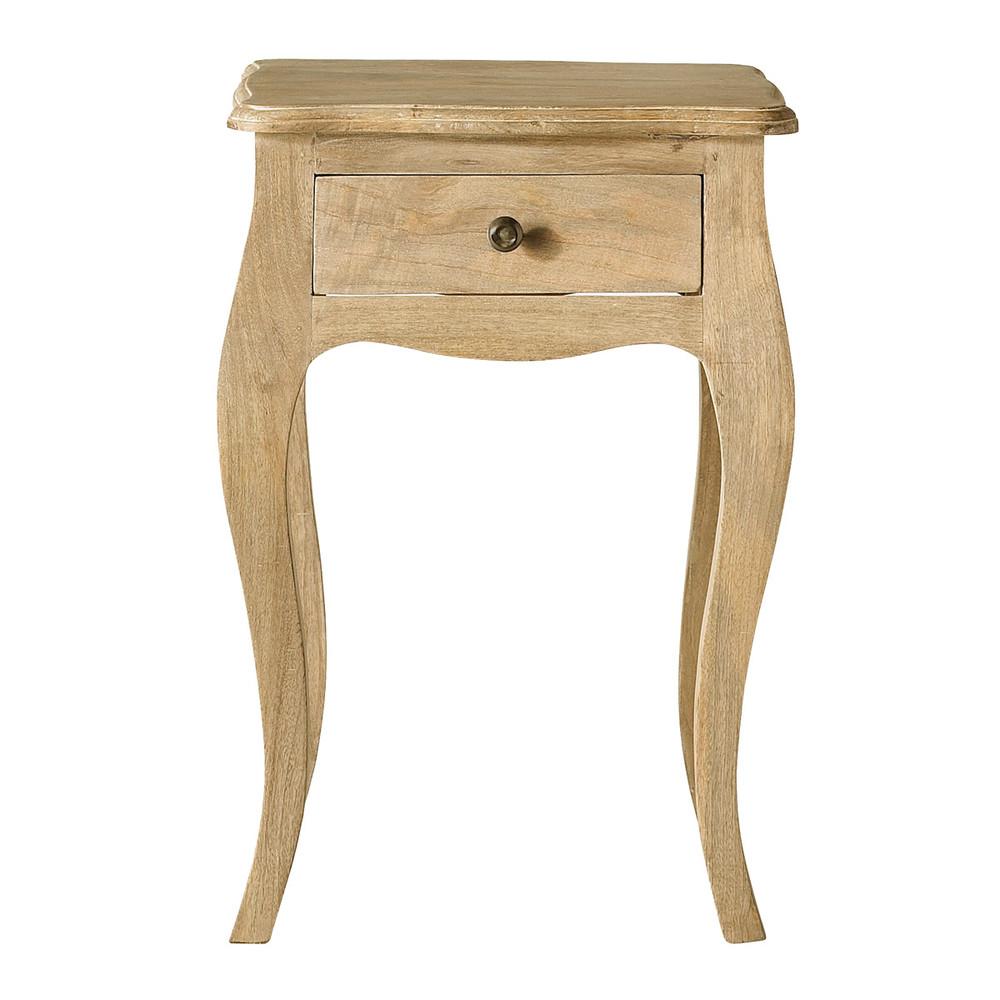 Nachttisch aus Mangoholz und acacia mit 1 Schublade Colette