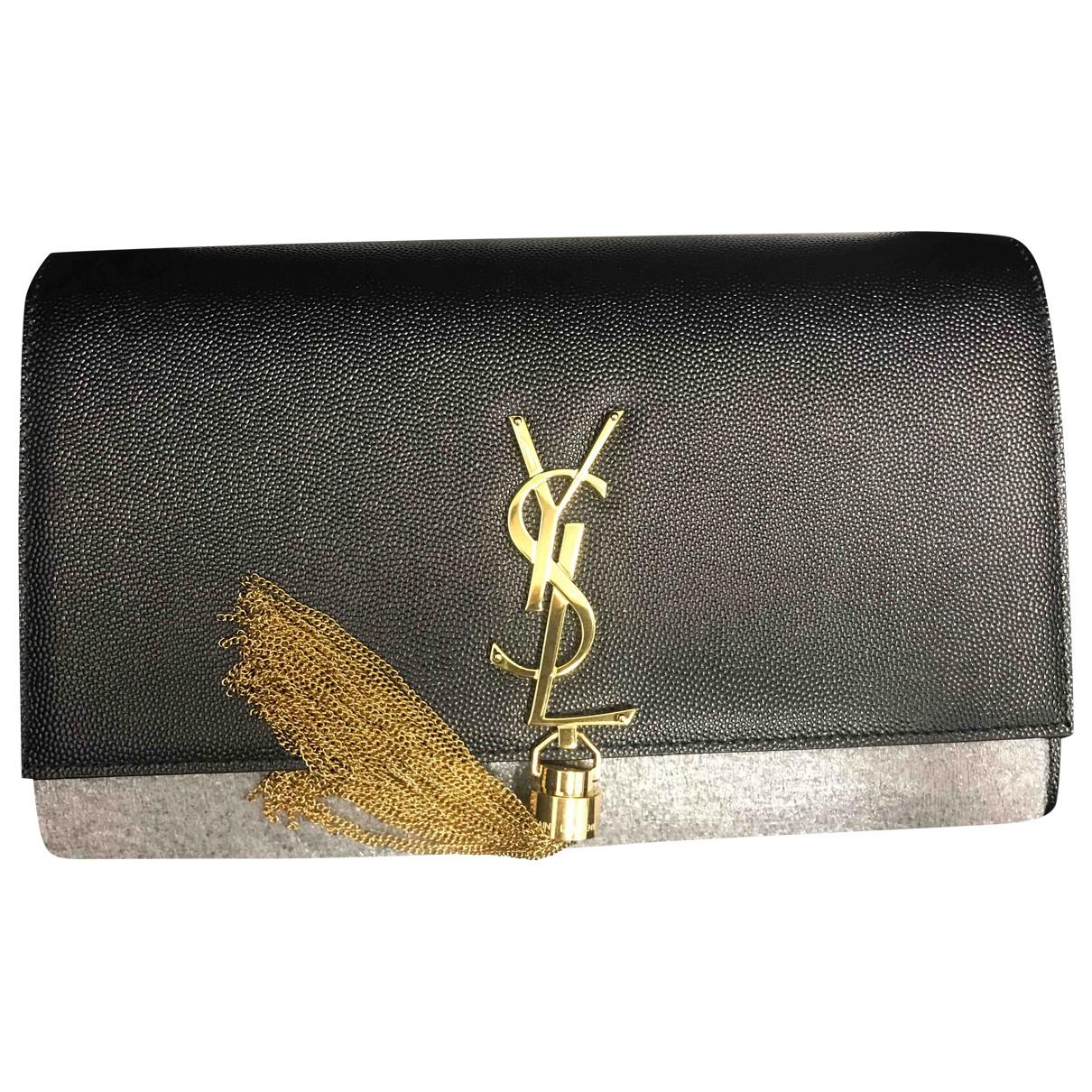 Saint Laurent Pompom Kate Black Leather handbag for Women \N
