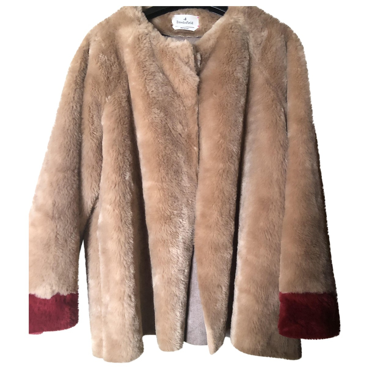 Brooksfield N Beige Faux fur coat for Women One Size IT