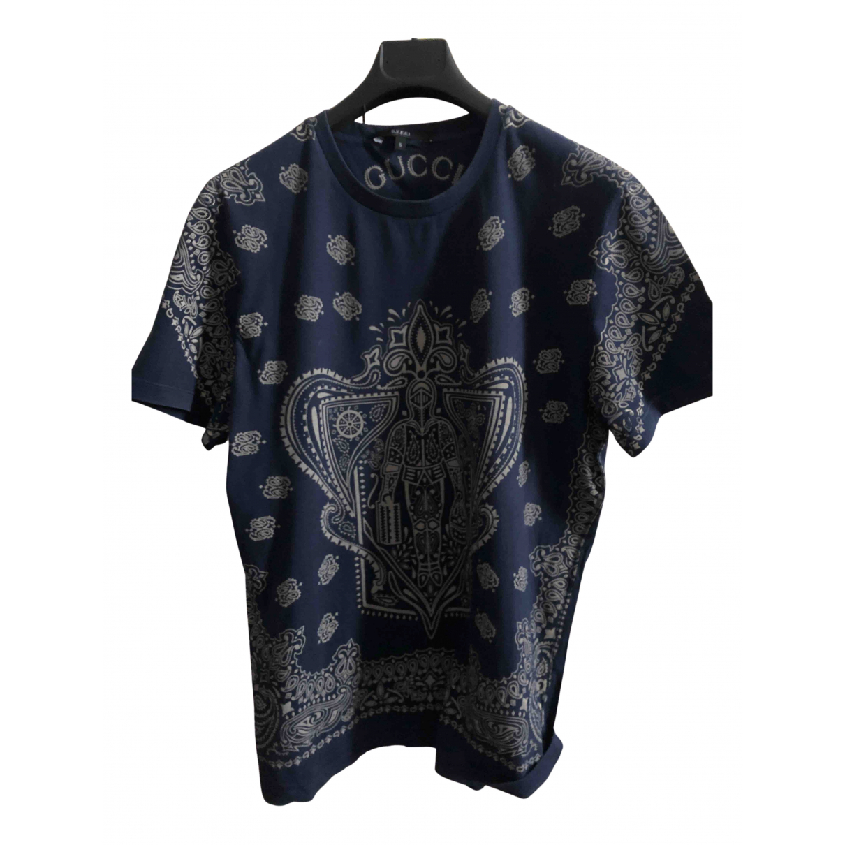 Gucci - Tee shirts   pour homme en coton - bleu