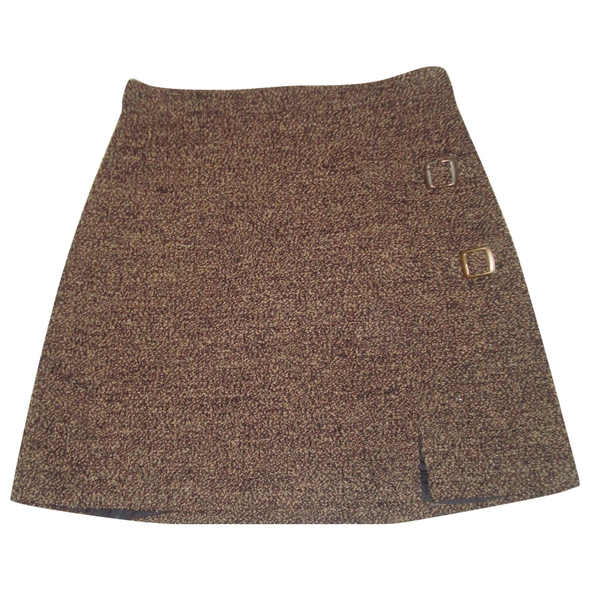 Non Signé / Unsigned \N Brown Wool skirt for Women 36 FR
