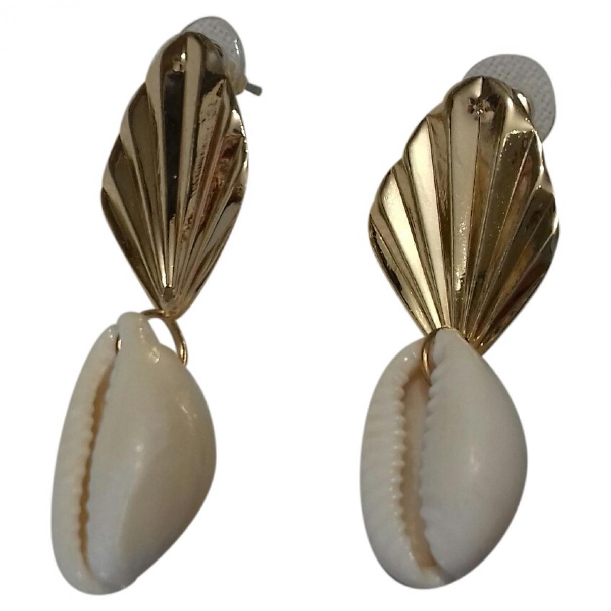 - Boucles doreilles Motifs Coquillages pour femme en metal - dore