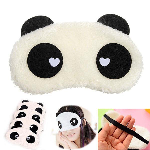Lovely Panda Pattern Eye Mask Cute Travel Resting Eyeshade Eyepatch Supplies