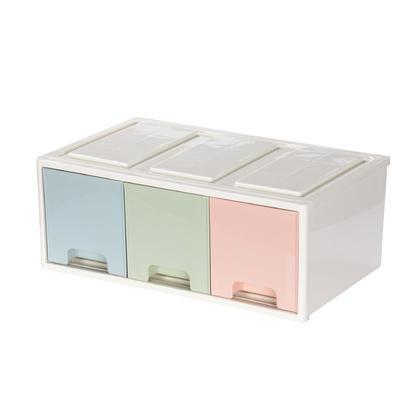 Pastel Desktop Storage Organizer, 320*192*125mm, Stackable & Removable - 3 Drawers