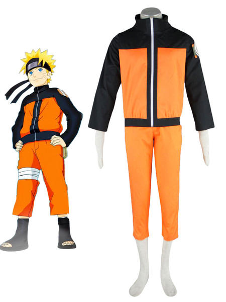Milanoo Halloween Moderno traje de Naruto Uzumaki para cosplay de Naruto
