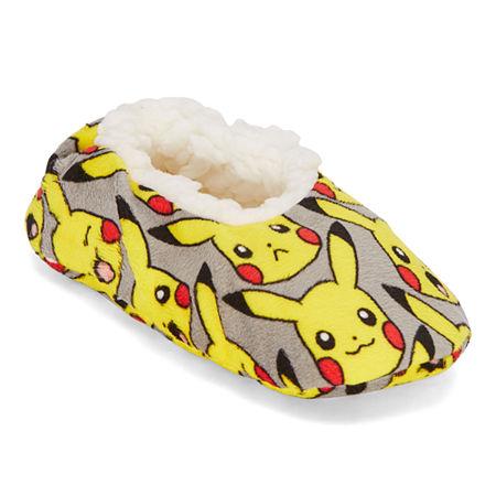 Boys Pokemon Slip-On Slippers, Small-medium , Gray