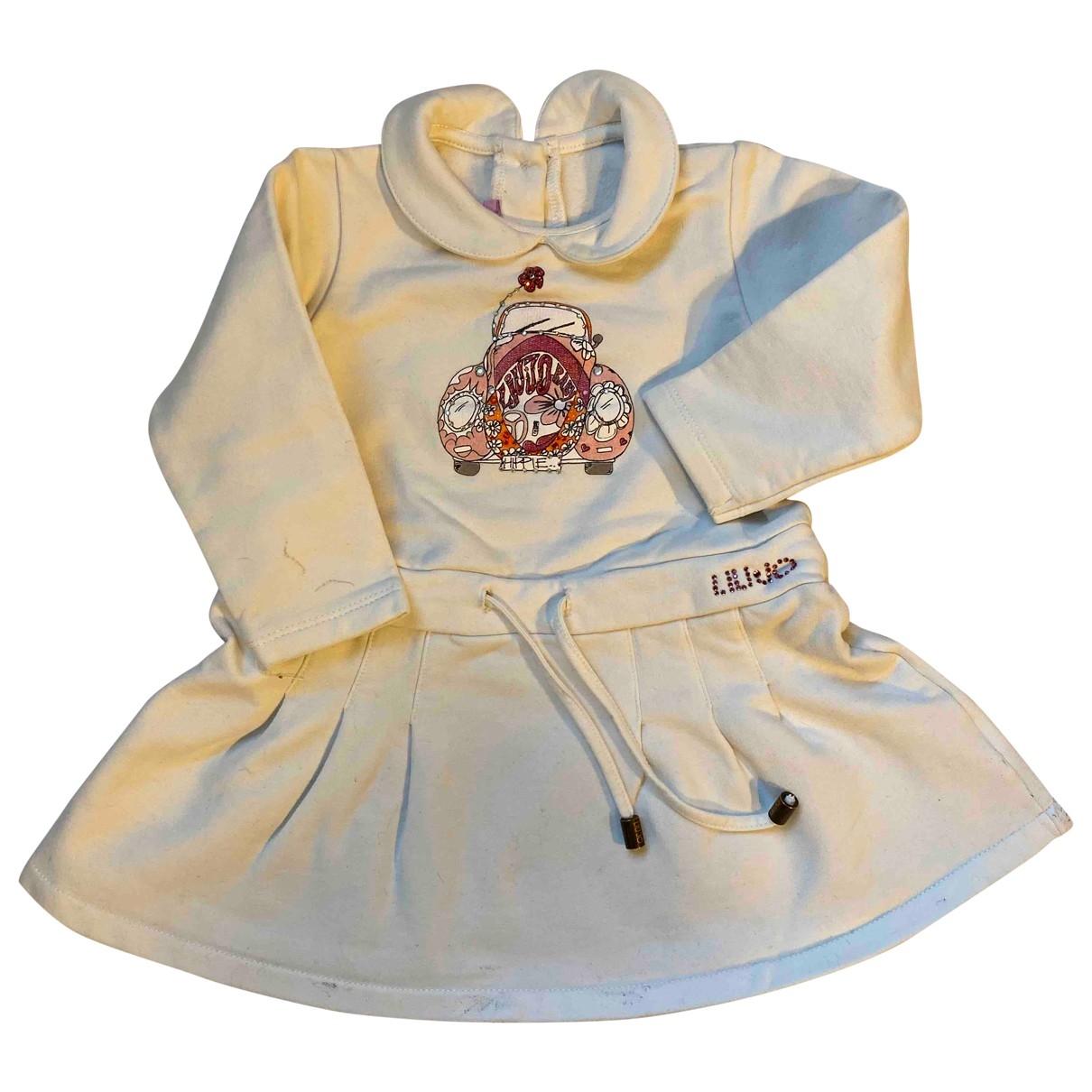 Liu.jo \N Kleid in  Weiss Baumwolle