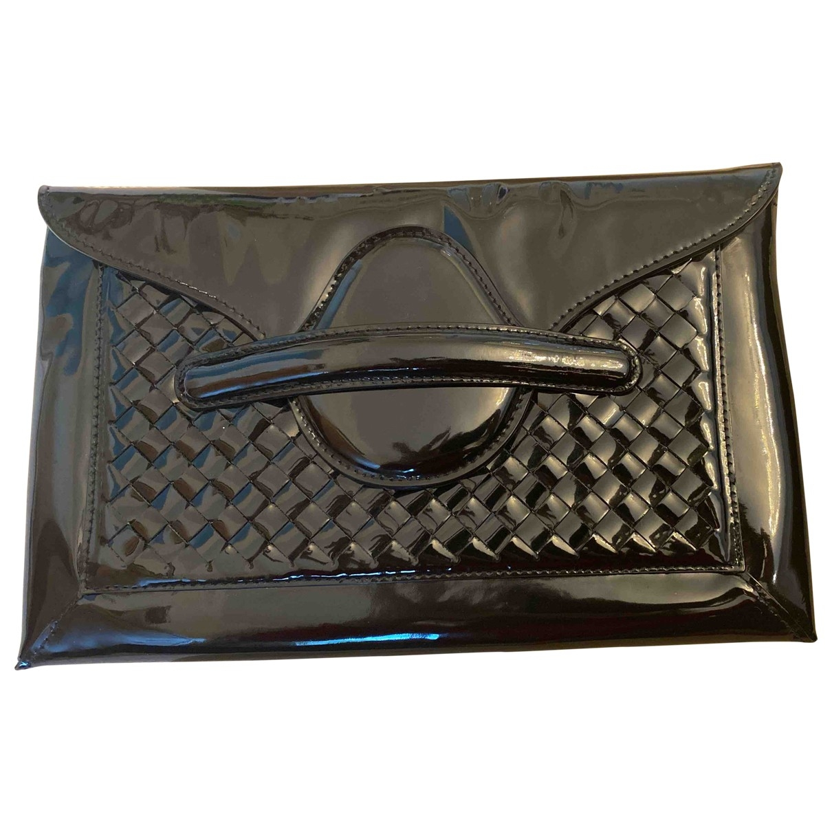 Bottega Veneta \N Black Patent leather Clutch bag for Women \N