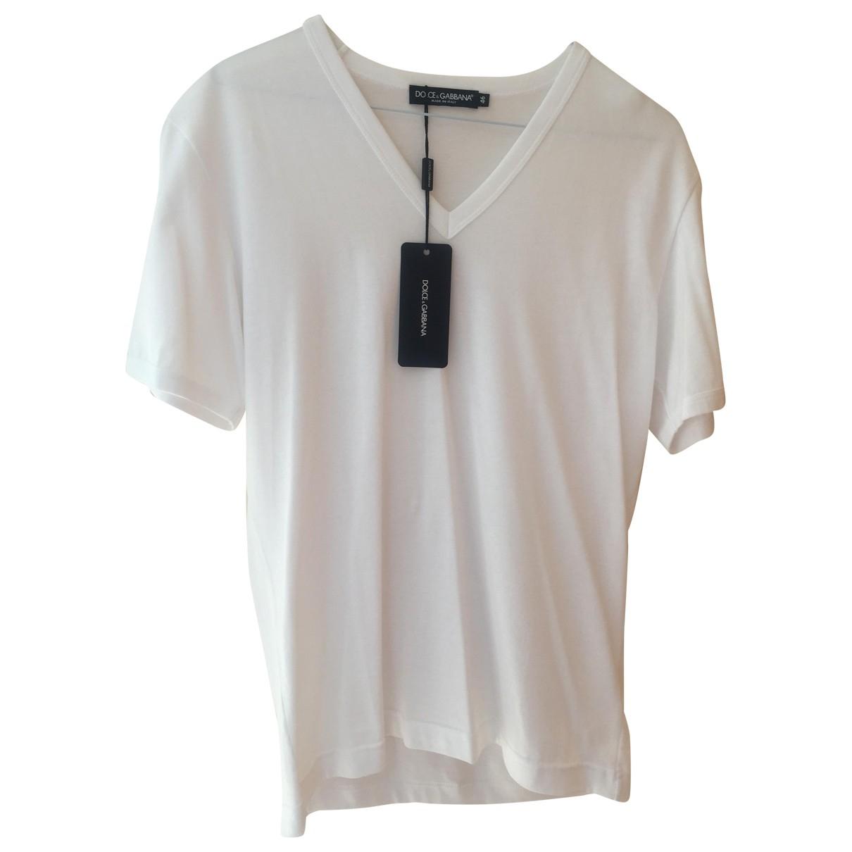 Dolce & Gabbana \N White Cotton T-shirts for Men S International