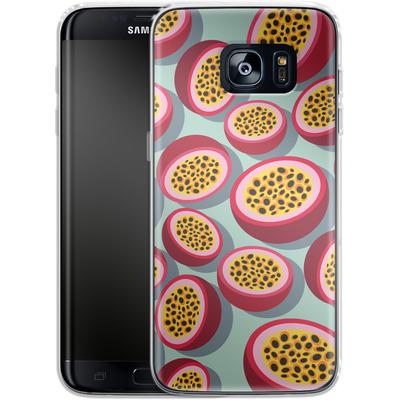 Samsung Galaxy S7 Edge Silikon Handyhuelle - Passion Fruit von Susana Paz