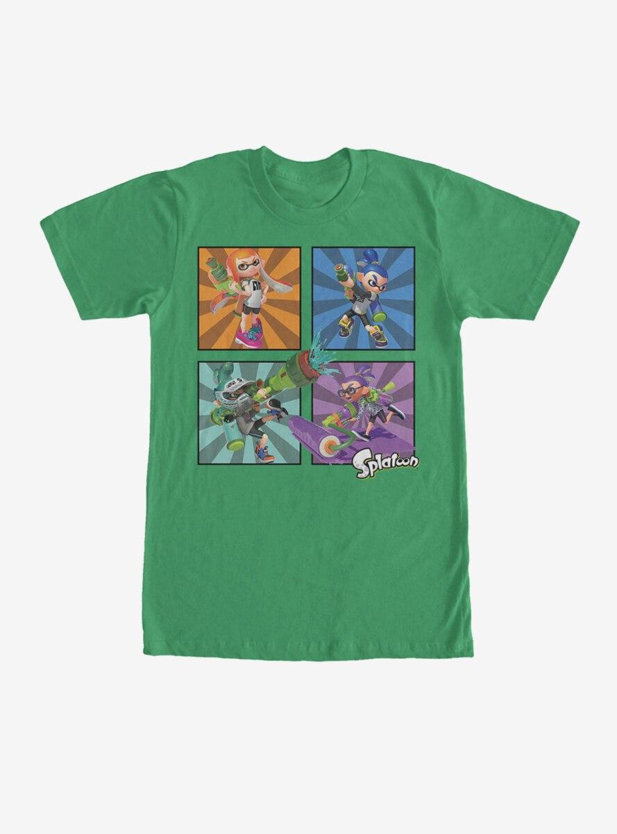 Nintendo Splatoon Inkling Panels T-Shirt