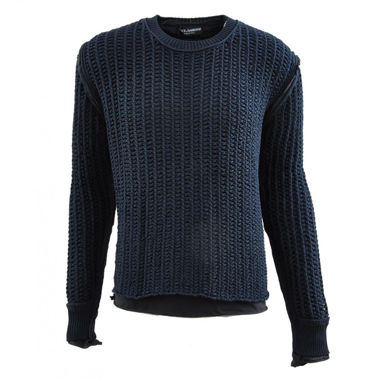 Dolce & Gabbana \N Blue Cotton Knitwear & Sweatshirts for Men 44 IT